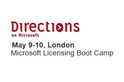 <strong>9th-10th May, London</strong> <br> Microsoft Licensing Boot Camp
