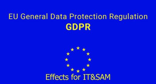 EU GDPR effects for IT & SAM