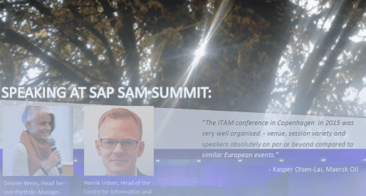 June 21-22 – Copenhagen – ITAM Conference/SAP SAM Summit 2017