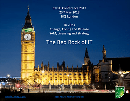 BCS CMSG annual conference, London, May 23