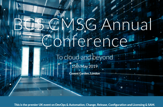 BCS CMSG annual conference, London, May 15