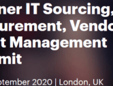 Gartner IT Sourcing & Vendor Management Summit, London, September 9-11 2020