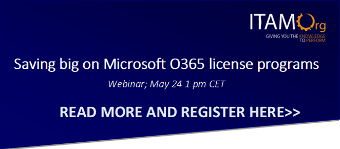 Webinar – How to optimize Office365 to save big! – May 14 – 1 pm CET